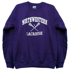 Northwestern Wildcats Purple Lacrosse Crewneck Sweatshirt