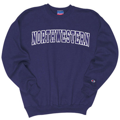 Northwestern Wildcats Champion® Purple Tackle Twill Crew