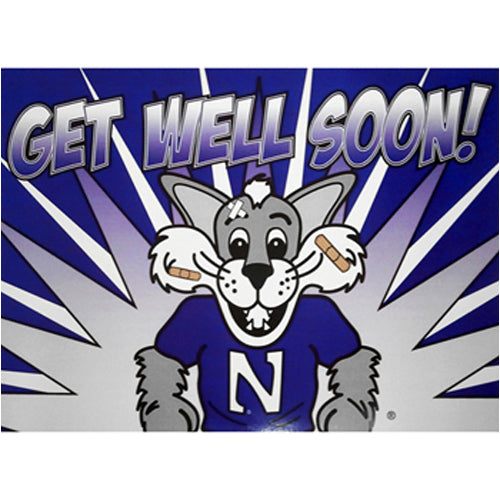 Northwestern Wildcats Get Well Soon Card