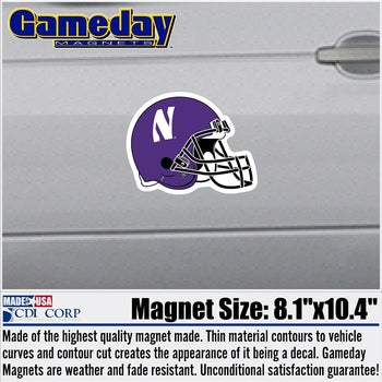 Northwestern University Wildcats Automotive Helmet Magnet