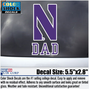 Northwestern Wildcats Dad Decal