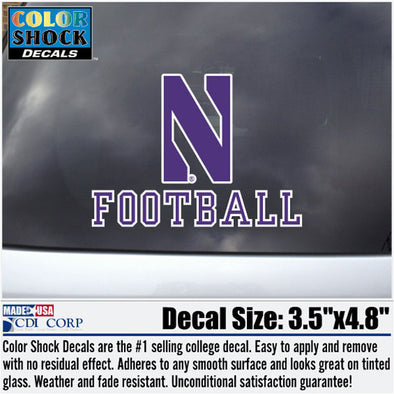 Northwestern Wildcats N Football Decal