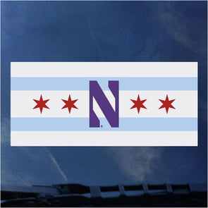 Northwestern Wildcats Chicago N Decal