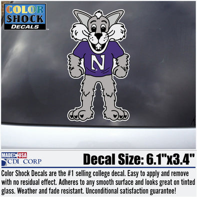 Northwestern Wildcats Willie the Wildcat Decal