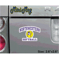 Northwestern Wildcats Softball Mini - Magnet