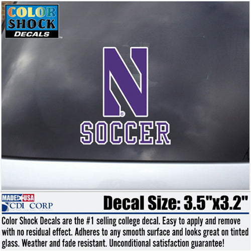 Northwestern Wildcats Soccer Decal