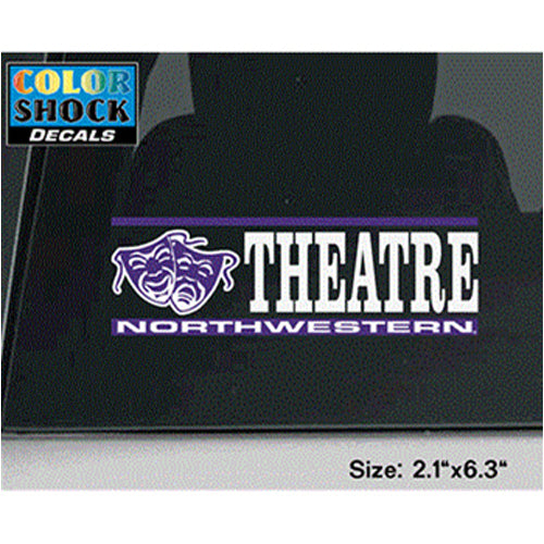Northwestern Wildcats Theatre Sticker