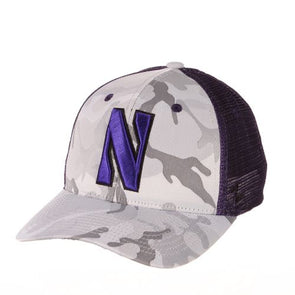 Northwestern Wildcats Camo Trucker Hat
