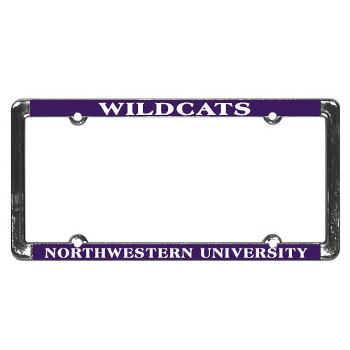 Northwestern Wildcats License Plate Frame