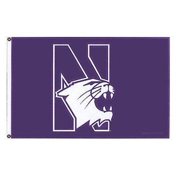 Northwestern Wildcats 3' X 5' Purple N-Cat Flag