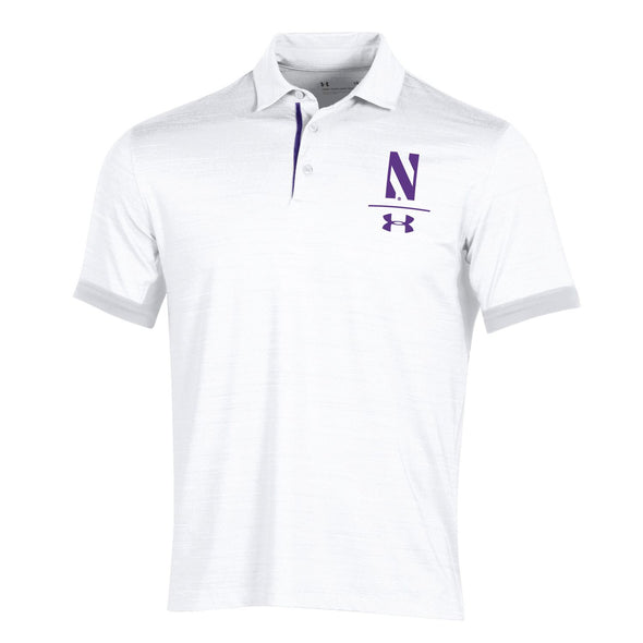 Northwestern Wildcats Under Armour Playoff Vented Polo - White