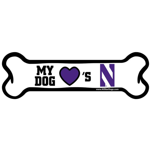 Northwestern Wildcats Doggie Bone Magnet