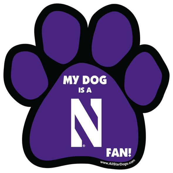 Northwestern Wildcats Doggie Fan Magnet