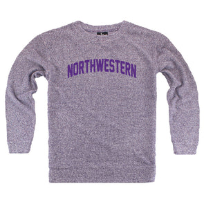 Northwestern Wildcats Women's Purple Cozy Crew Sweatshirt