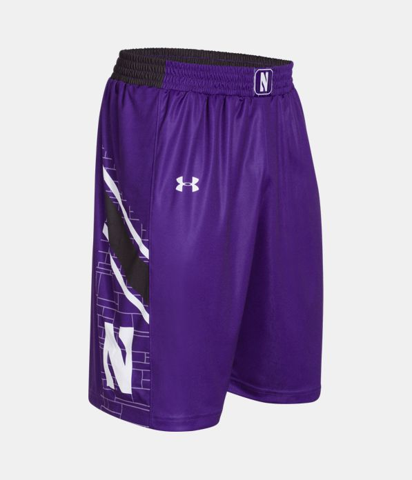 Northwestern Wildcats Under Armour® Adult Replica Basketball Shorts