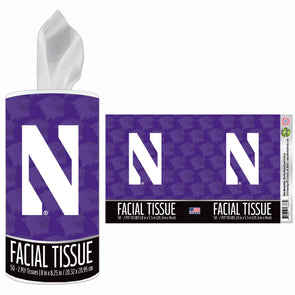 Northwestern Wildcats Facial Tissue