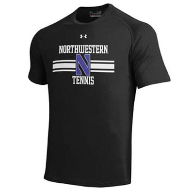Northwestern Wildcats Under Armour® Black Tennis T-Shirt