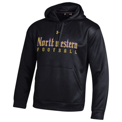 Northwestern Wildcats Under Armour Gothic Football Hooded Sweatshirt