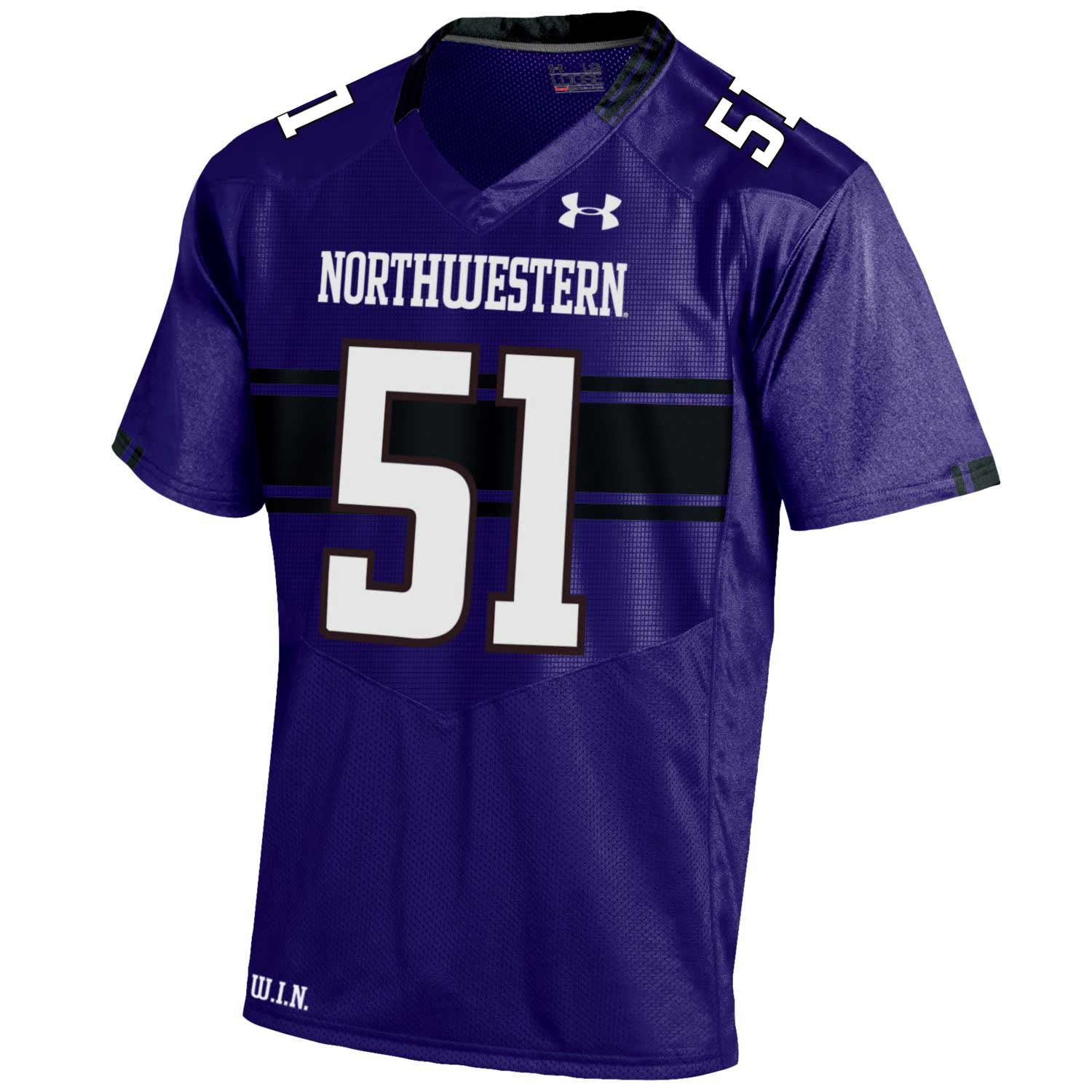 newest 163c2 6a09c Northwestern Wildcats Under Armour® Adult Football Replica Jersey - Purple -