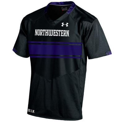 Northwestern Wildcats Under Armour® Adult Black Custom Replica Football Jersey