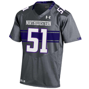 15e79057a Northwestern Wildcats Under Armour® Youth Graphite Football Jersey