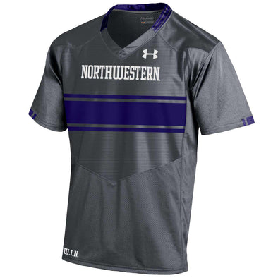 Northwestern Wildcats Under Armour® Youth Custom Graphite Football Jersey