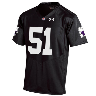 Northwestern Wildcats Under Armour® Black Rose Bowl Football Premier Jersey