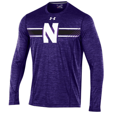 Northwestern Wildcats Under Armour® Long Sleeve Sideline Purple Training T-Shirt