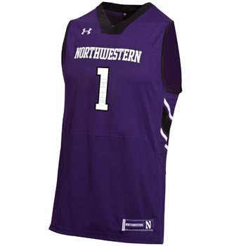 Northwestern Wildcats Under Armour® Basketball Adult #1 Replica Jersey