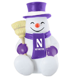 Northwestern Wildcats Happy the Snowman Statue