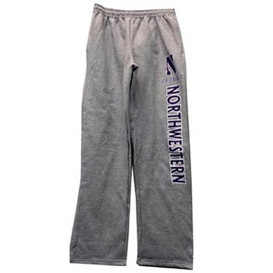 Northwestern Wildcats Adult Grey Softball Sweatpants