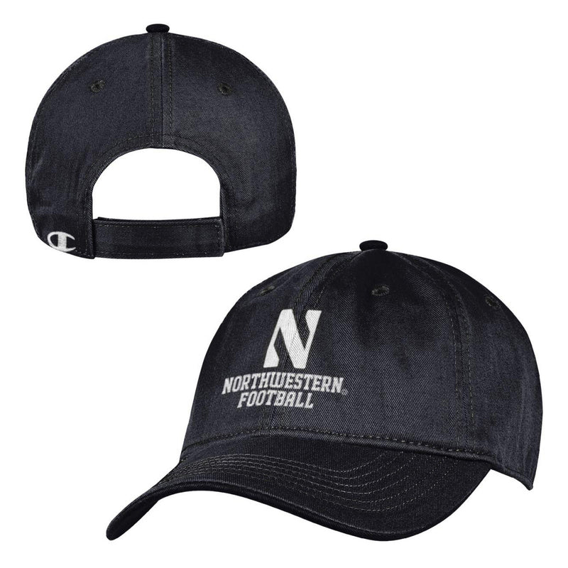 Northwestern Wildcats Black End Zone Cap