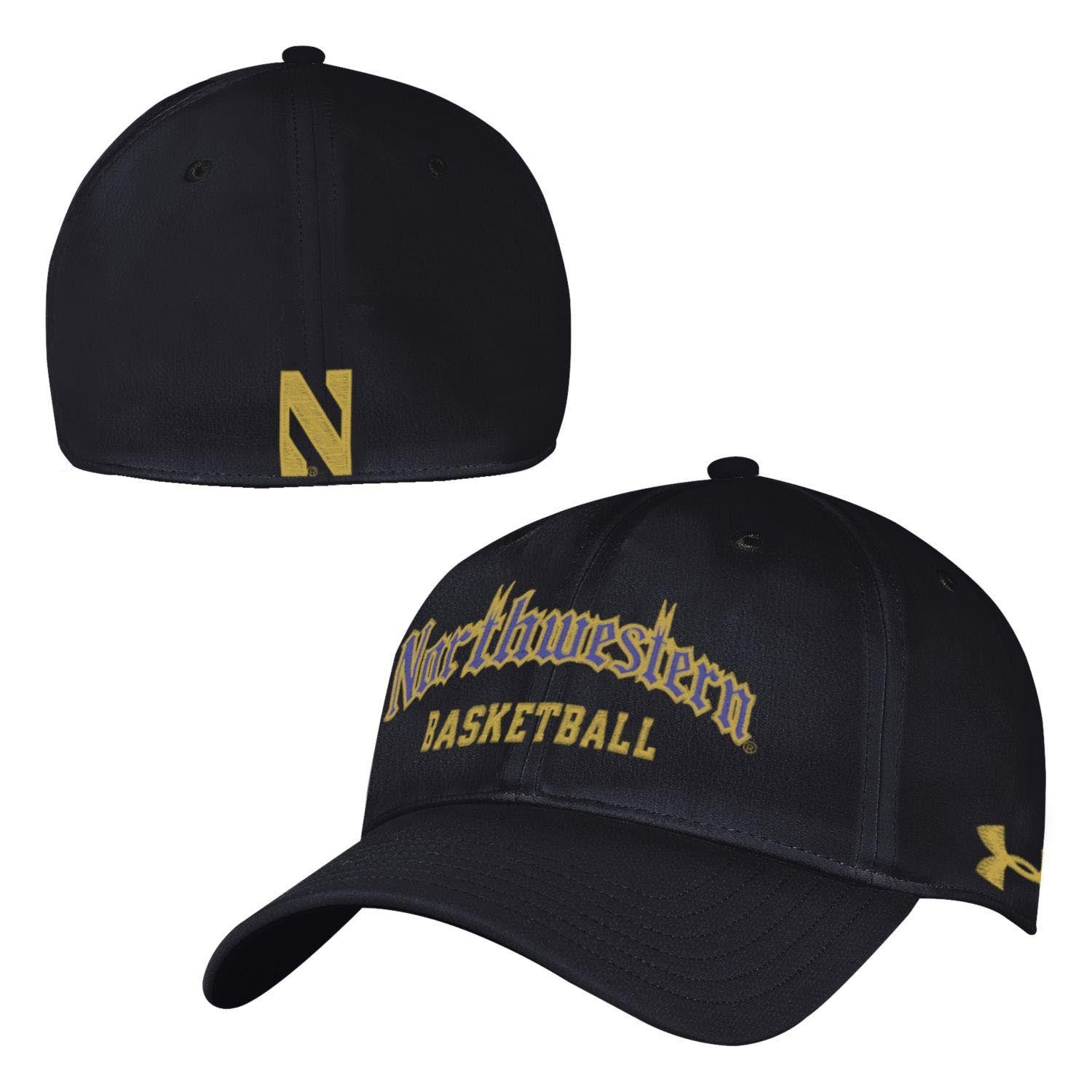 b724ce3b564 Northwestern Wildcats Under Armour® Fitted Gothic Basketball Hat ...