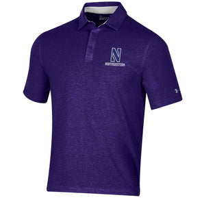 Northwestern Wildcats Under Armour Charged Cotton Polo