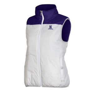 Northwestern Wildcats Under Armour Ladies Reversible Puffer Vest