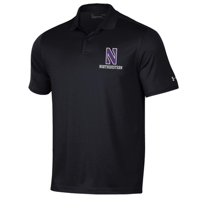 Northwestern Wildcats Under Armour Performance Polo-Black