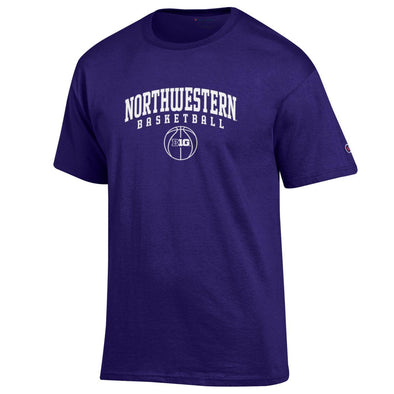 Northwestern Wildcats Big Ten Purple Basketball T-Shirt