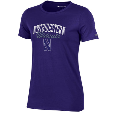 Northwestern Wildcats Champion® Women's Short Sleeve University T-Shirt