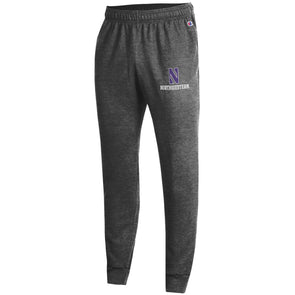 Northwestern Wildcats Champion Eco Powerblend Fleece Jogger Pant-Charcoal