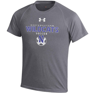 Northwestern Wildcats Under Armour Charcoal Soccer T-Shirt-Youth