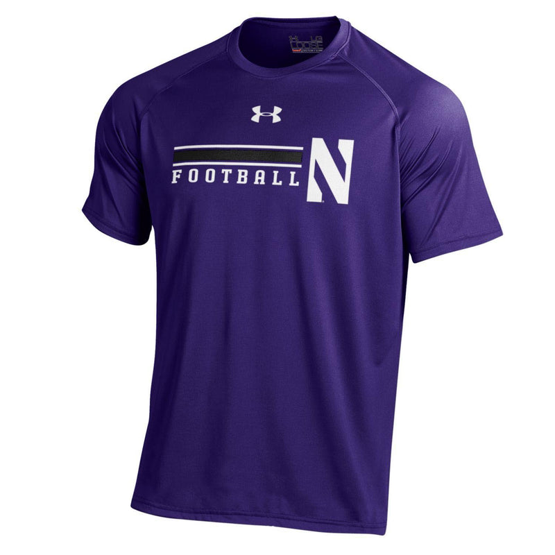 Northwestern Wildcats Under Armour® Purple On-Field Football T-Shirt