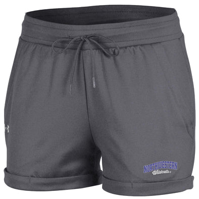 Northwestern Wildcats Under Armour® Women's French Terry Rolled Shorts