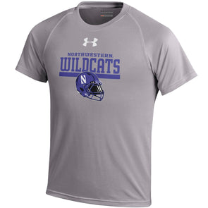 Northwestern Wildcats Under Armour® Youth Gridiron T-Shirt - Grey