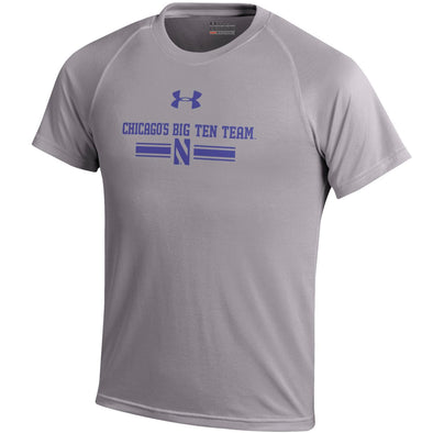 Northwestern Wildcats Under Armour® Chicago's Big Ten Team Adult Short Sleeve T-Shirt - Grey