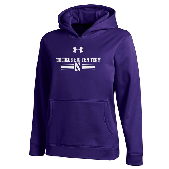 Northwestern Wildcats Chicago's Big Ten Team Adult Hoodie - Purple