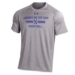 Northwestern Wildcats Under Armour® Chicago's Big Ten Team Basketball T-Shirt - Grey