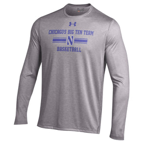 Northwestern Wildcats Under Armour® Chicago's Big Ten Team Basketball Long SleeveT-Shirt - Grey