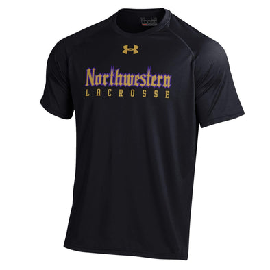 Northwestern Wildcats Under Armour® Adult Gothic Lacrosse T-Shirt