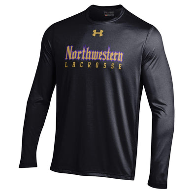 Northwestern Wildcats Under Armour® Adult Gothic Lacrosse T-Shirt - Long Sleeve