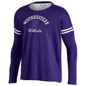 Northwestern Wildcats Under Armour® Girls Youth Strip T-Shirt